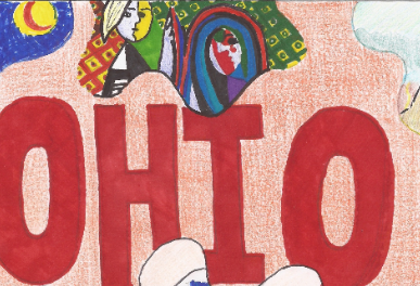Ohio Art Education Association's Youth Art Month Flag Design Contest Winners