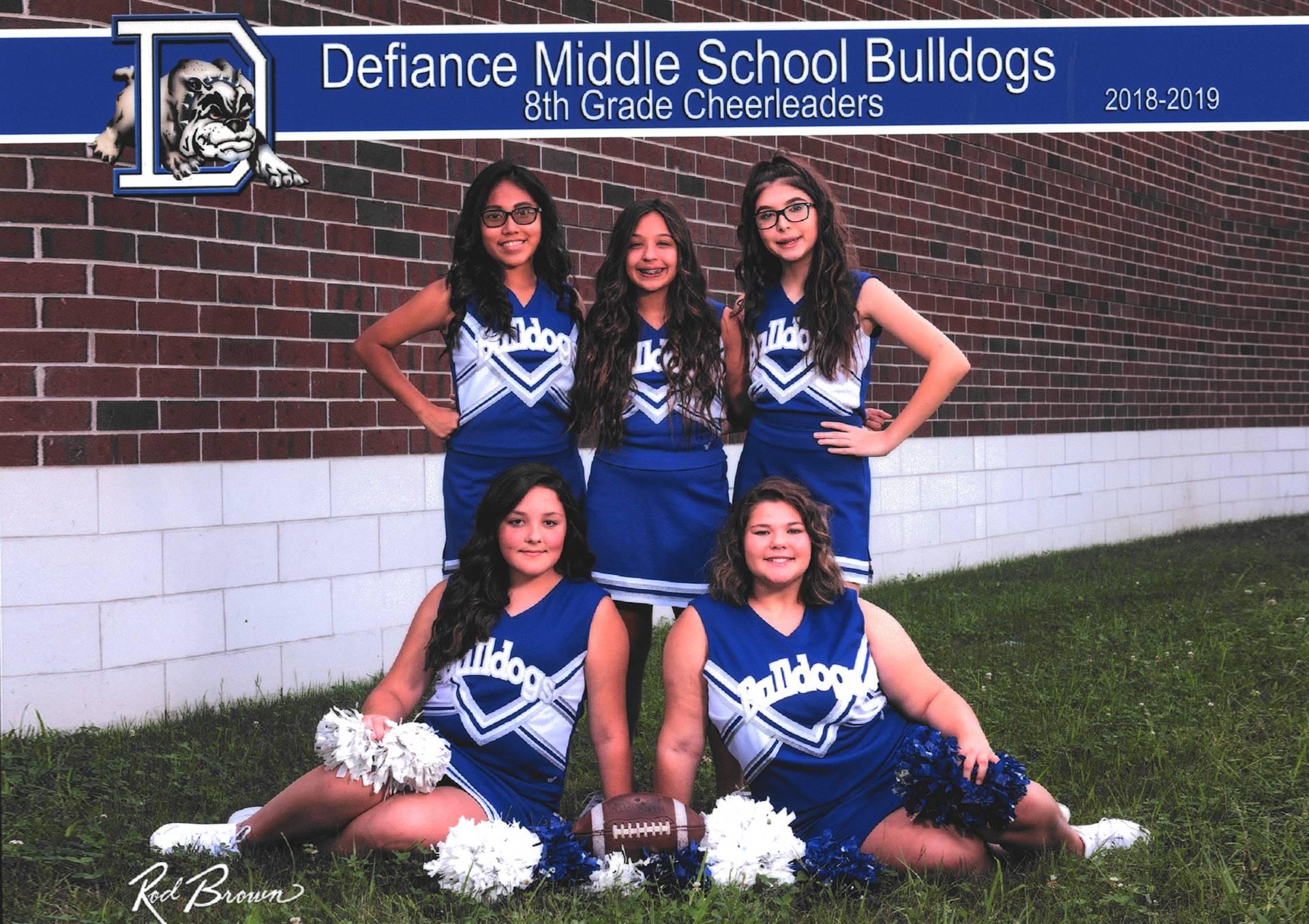 8th Grade Cheerleaders-Fall 2018