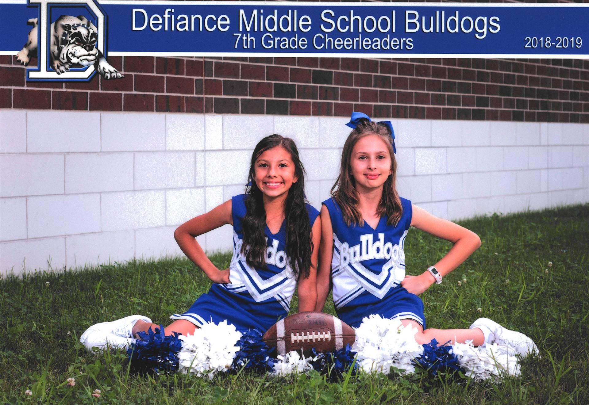 7th Grade Cheerleaders-Fall 2018
